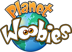 Planet Woobies Logo guiding to homepage